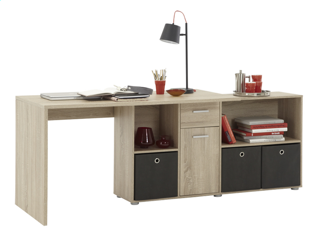 Afbeelding van Bureau Lex eikdecor/wit from ColliShop