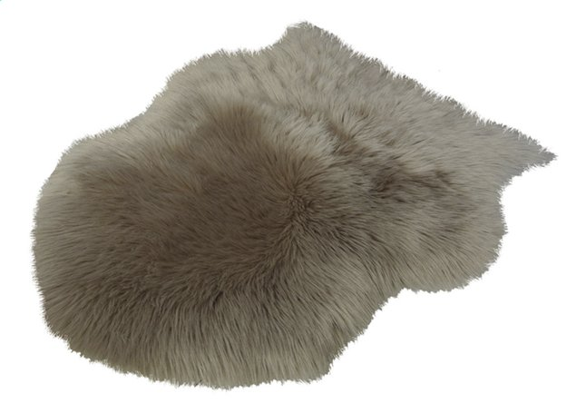 Image pour Van der Leeden Peau de mouton taupe fausse fourrure Lg 65 x L 90 cm à partir de ColliShop
