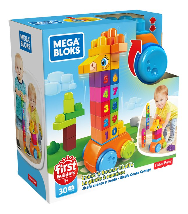 Afbeelding van Mega Bloks First Builders Count'n Bounce Giraffe from ColliShop