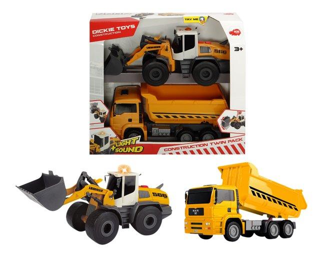 Afbeelding van Dickie Toys constructievoertuigen Construction Twin Pack from ColliShop