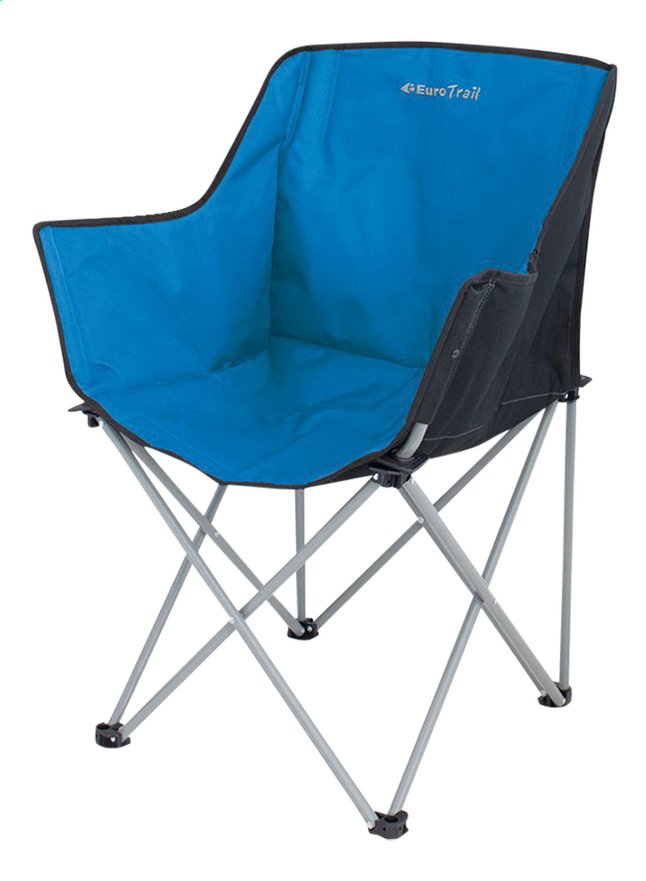 EuroTrail chaise de camping Kampala azur/noir