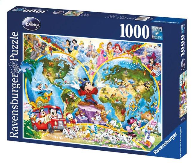 Afbeelding van Ravensburger puzzel Disney's wereldkaart from ColliShop
