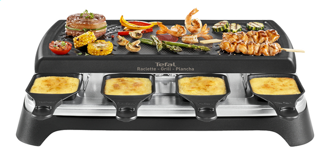 tefal gril appareil raclette inox design re4598 8. Black Bedroom Furniture Sets. Home Design Ideas