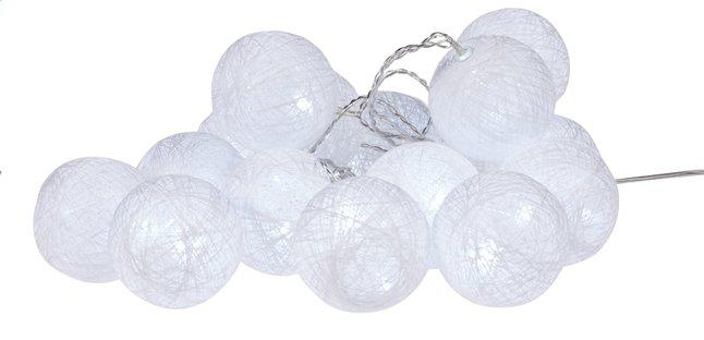 Image pour Guirlande lumineuse LED avec boules de laine L 3 m blanc froid à partir de ColliShop