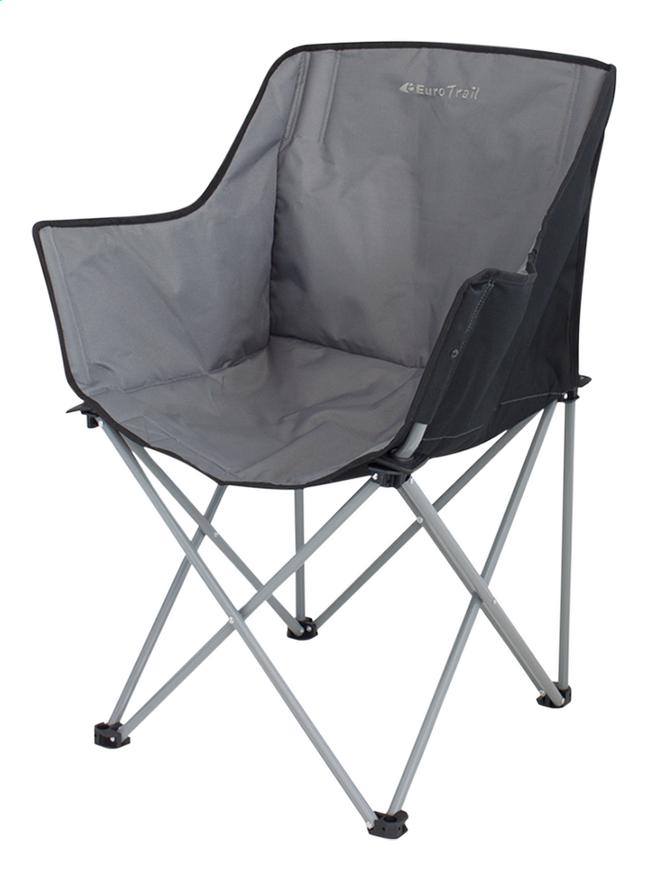 Image pour EuroTrail chaise de camping Kampala anthracite/noir à partir de ColliShop