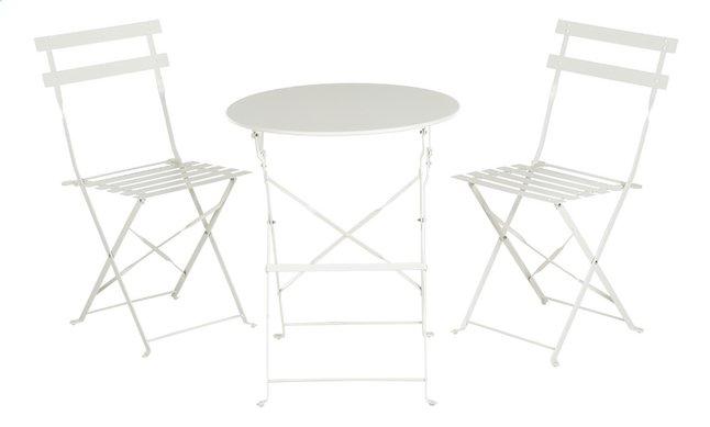 Image pour Ensemble de jardin bistro 3 pièces blanc à partir de ColliShop