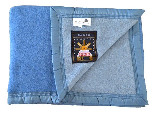 Afbeelding van Sole Mio Wollen deken 500 blauw/hemelsblauw from ColliShop