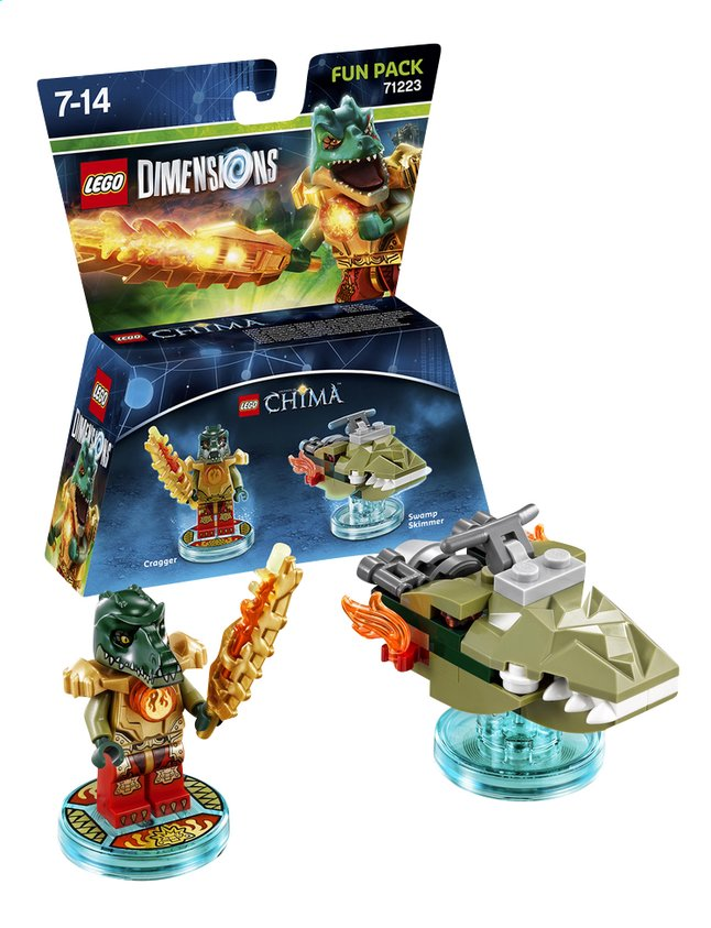 Afbeelding van LEGO Dimensions figuur Fun Pack Chima 71232 Cragger from ColliShop