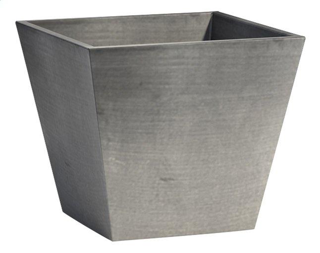 Image pour Ecopot's Pot carré Rotterdam grey 24 x 24 cm à partir de ColliShop