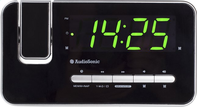 Afbeelding van Audiosonic wekkerradio CL-1492 zwart from ColliShop