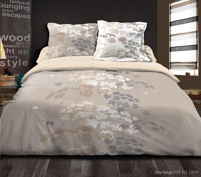 Image pour Home lineN Housse de couette Frise flanelle 140 x 200 cm à partir de ColliShop