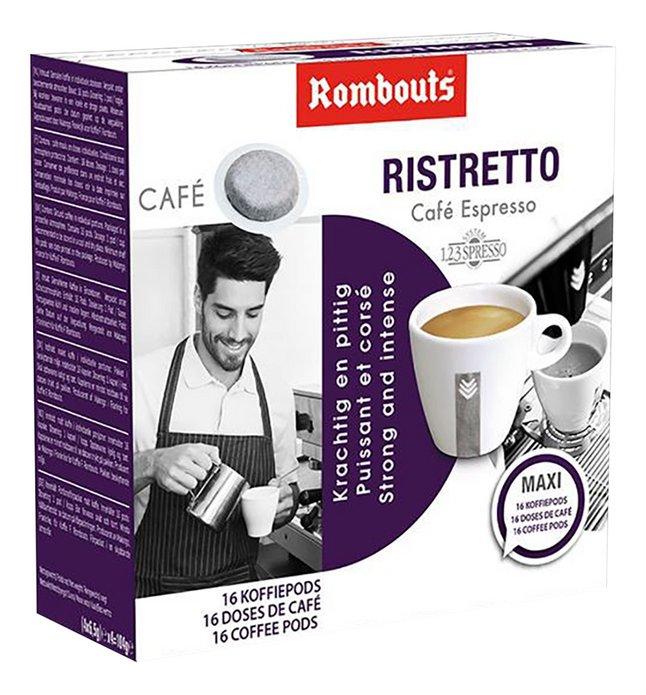 Rombouts Dosettes de café Ristretto - 10 boîtes