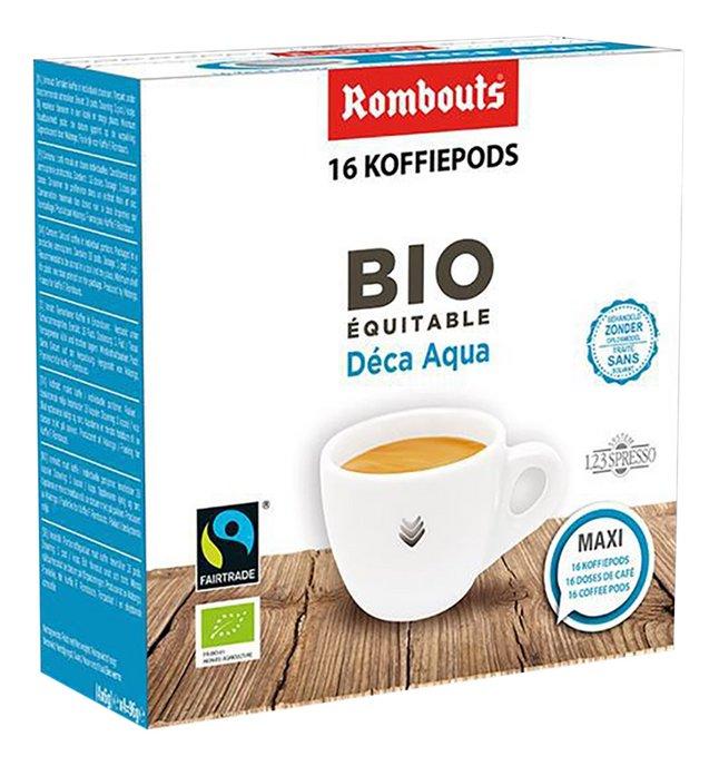 Rombouts Dosettes de café Déca Aqua Bio Equitable - 10 boîtes