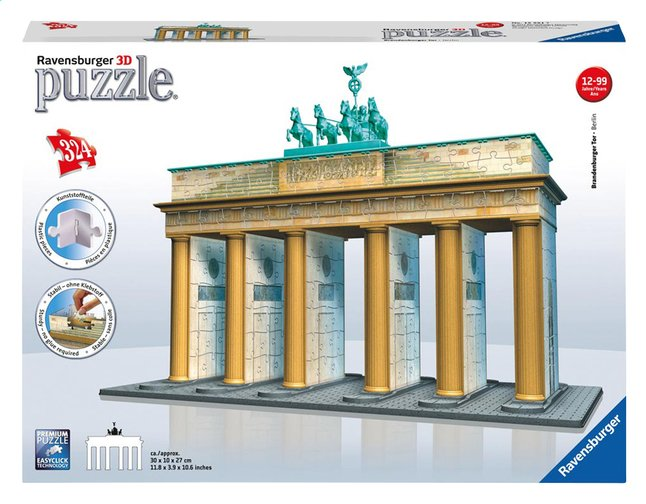 Afbeelding van Ravensburger 3D-puzzel Brandenburger Tor from ColliShop