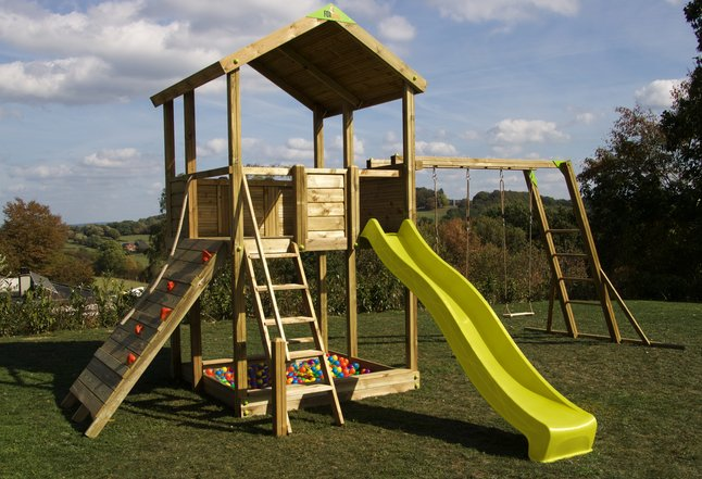 Fox play portique Sacramento Monkey Bar Adventure avec toboggan jaune