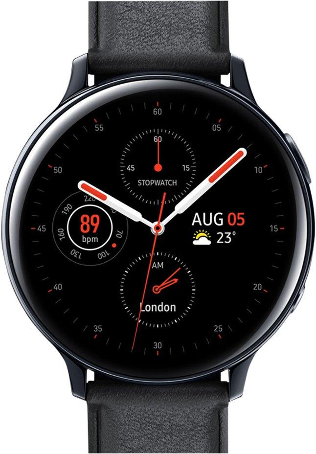 Samsung montre connectée Galaxy Watch Active 2 44 mm Stainless Aqua Black
