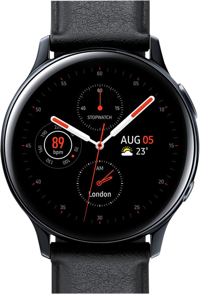 Samsung montre connectée Galaxy Watch Active 2 40 mm Stainless Aqua Black