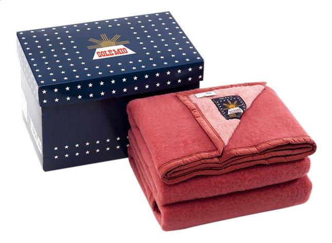 Sole Mio Couverture en laine 730 rose/fraise 220 x 240 cm