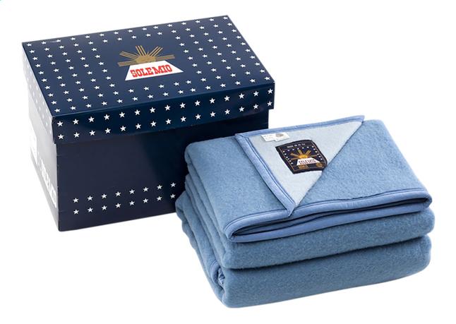 Sole Mio Wollen deken 730 blauw/hemelsblauw 240 x 300 cm