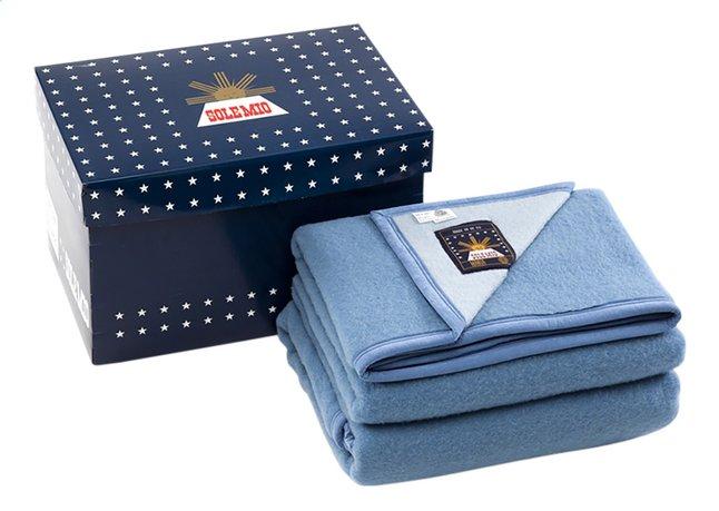 Afbeelding van Sole Mio Wollen deken blauw/hemelsblauw 240 x 260 cm from ColliShop