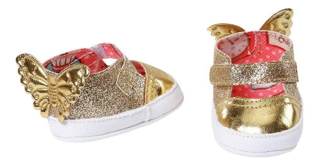 Baby Annabell schoenen goudkleurig