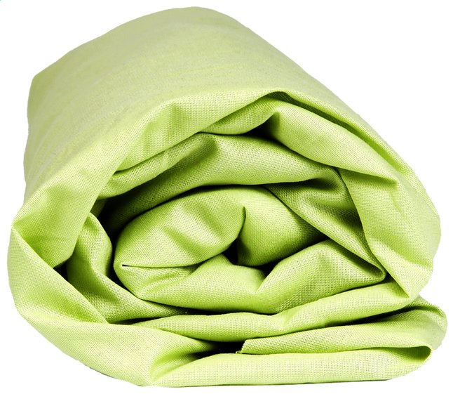 Afbeelding van Sleepnight hoeslaken lime katoenjersey 140 x 200 cm from ColliShop