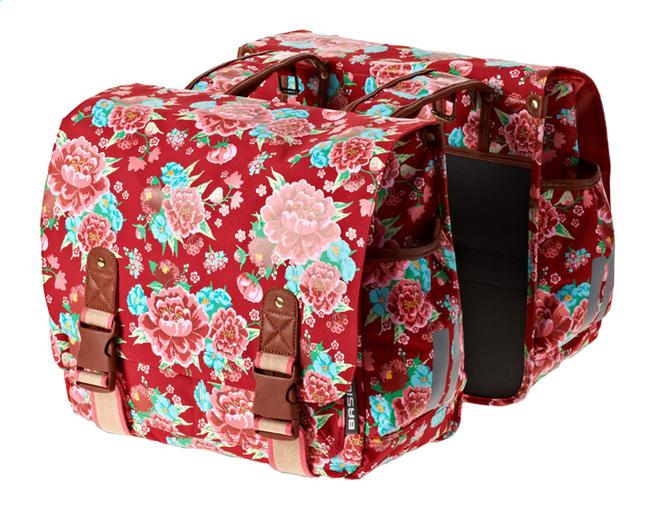 Image pour Basil double sac pour vélo Bloom Scarlett Red à partir de ColliShop