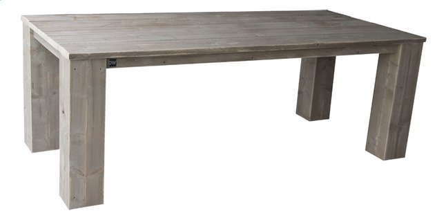 Image pour Dutchwood table de jardin brun 220 x 100 cm à partir de ColliShop