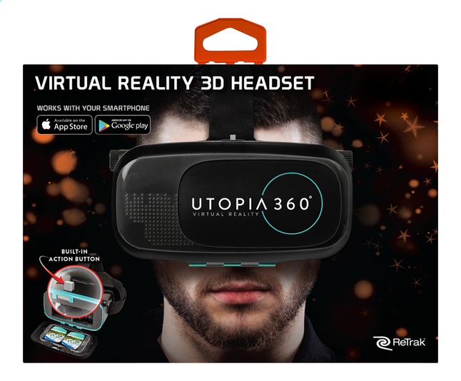 Afbeelding van ReTrak virtual reality headset Utopia 360° ETVRC from ColliShop