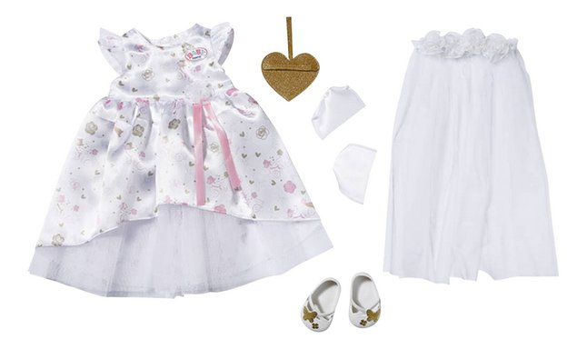 BABY born kledijset Boutique Deluxe Bride