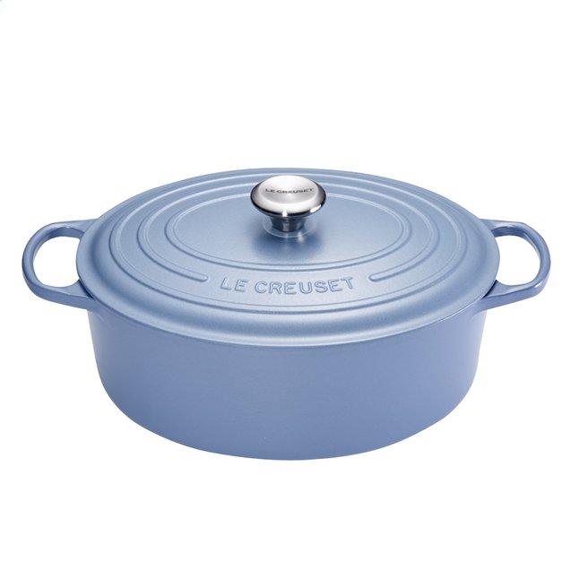 Image pour Le Creuset Cocotte ovale Signature bleu minéral 29 cm - 4,7 l à partir de ColliShop