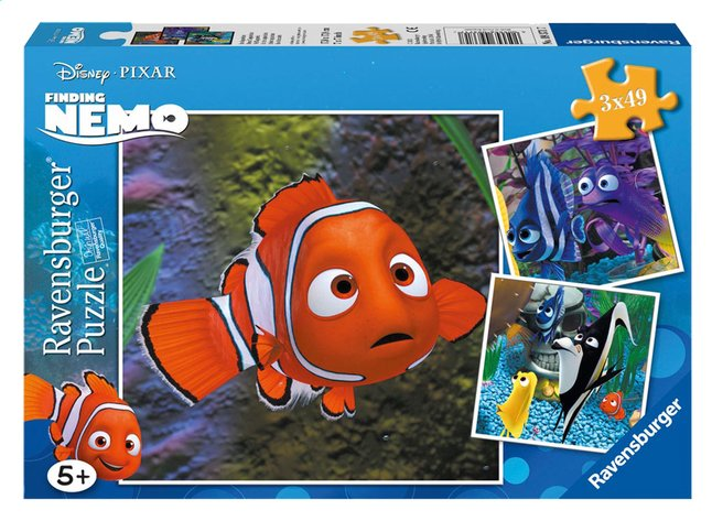 Afbeelding van Ravensburger 3-in-1 puzzel Nemo in het aquarium from ColliShop