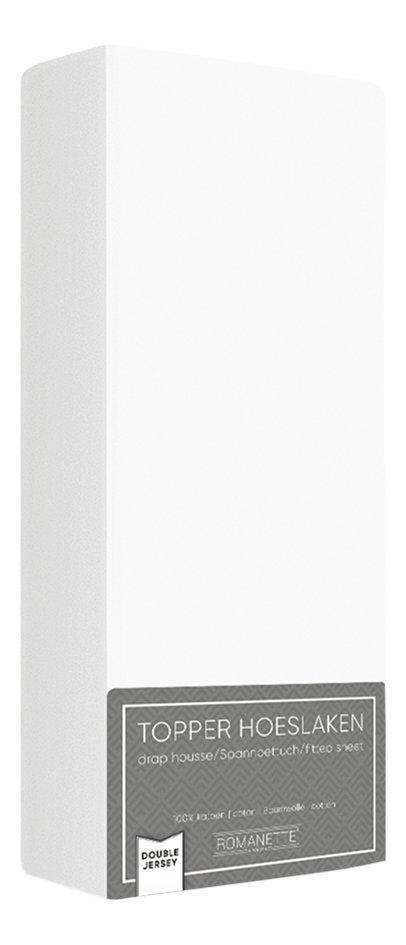 Afbeelding van Romanette Hoeslaken voor oplegmatras wit double jersey from ColliShop