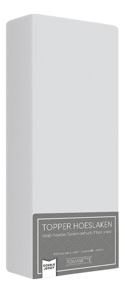 Afbeelding van Romanette Hoeslaken voor oplegmatras silver double jersey from ColliShop