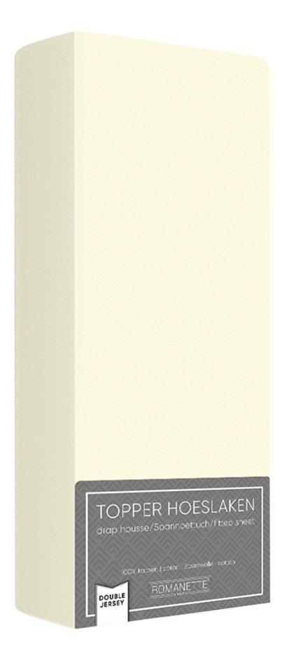Afbeelding van Romanette Hoeslaken voor oplegmatras ivoor double jersey from ColliShop