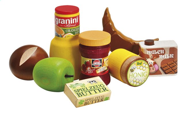 Afbeelding van Erzi houten speelset Ontbijt 8-delig from ColliShop
