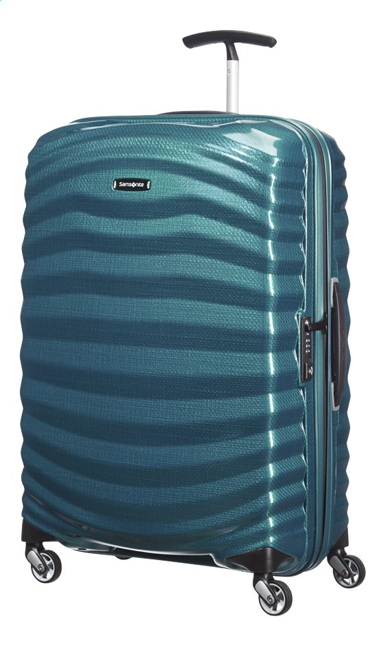 Afbeelding van Samsonite Harde reistrolley Lite-Shock Spinner petrol blue from ColliShop