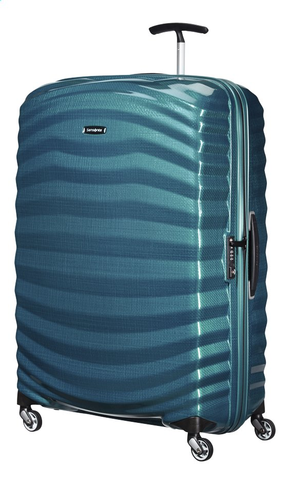 Afbeelding van Samsonite Harde reistrolley Lite-Shock Spinner petrol blue 81 cm from ColliShop