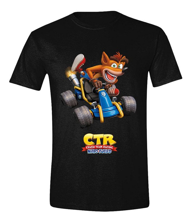 Image pour T-shirt à manches courtes Crash Team Racing Crash Car noir M à partir de ColliShop