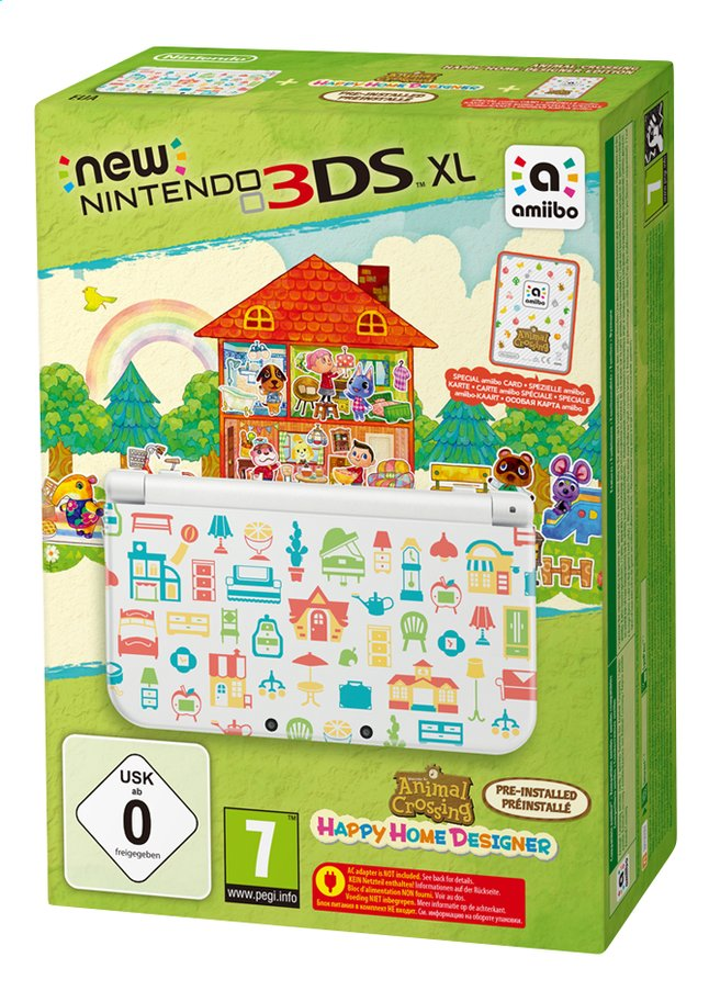 Afbeelding van New Nintendo 3DSXL console Animal Crossing: Happy Home Designer Edition + amiibokaart from ColliShop