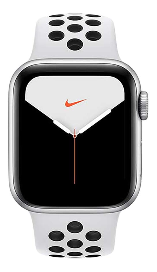 Apple Watch Series 5 44 mm aluminium argent/Platine pur/Noir