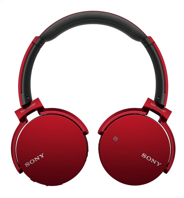 Afbeelding van Sony bluetooth hoofdtelefoon MDR-XB650BT rood from ColliShop