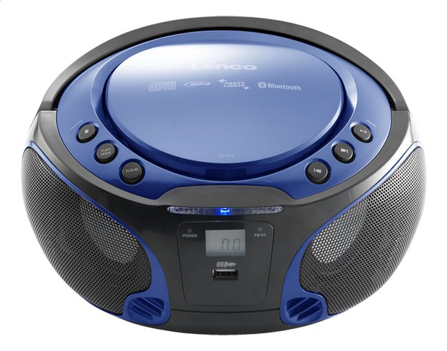 lenco radio lecteur cd portable scd 550 bleu collishop. Black Bedroom Furniture Sets. Home Design Ideas