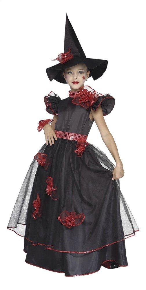 Image pour Déguisement de sorcière rouge/noir taille 128 à partir de ColliShop