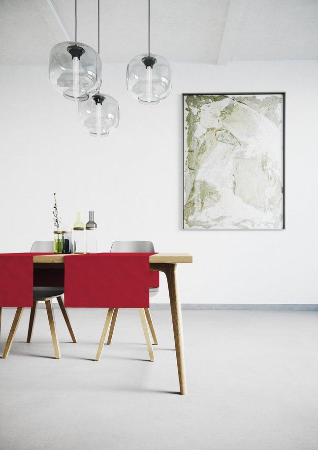 Afbeelding van Mistral Home Tafelloper Uniline rood L 140 x B 45 cm - 2 stuks from ColliShop