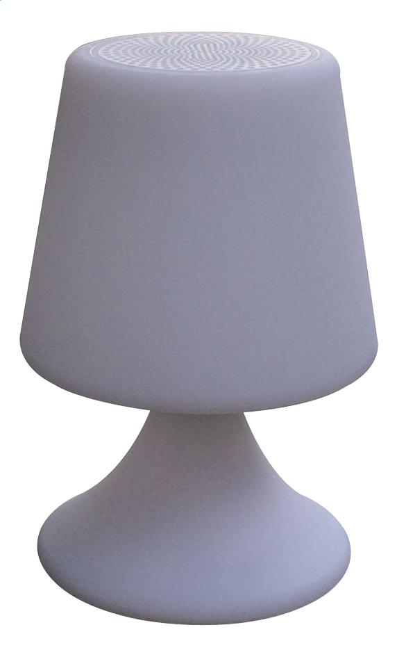 Image pour Lampe de table avec haut-parleur Bluetooth blanc à partir de ColliShop