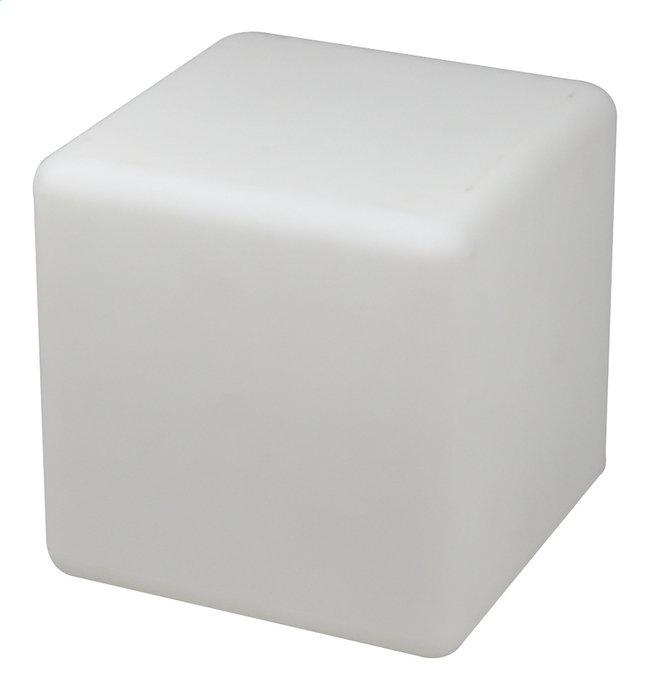 Image pour Éclairage LED-cube/siège rechargeable avec haut-parleur Bluetooth blanc 40 cm à partir de ColliShop