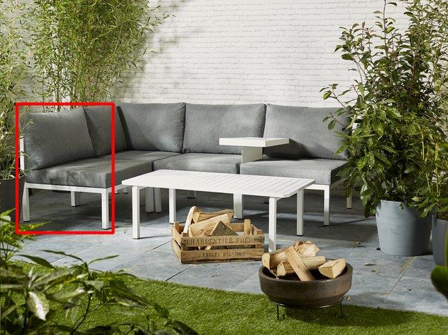 Image pour Fauteuil de jardin Selecta modulaire blanc/anthracite à partir de ColliShop