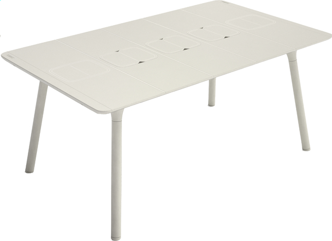 Image pour Grosfillex table de jardin Connection gris 160 x 100 cm à partir de ColliShop