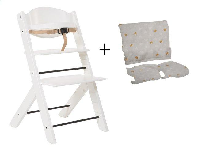 Image pour Treppy Chaise haute avec coussin réducteur gratuit blanc à partir de ColliShop